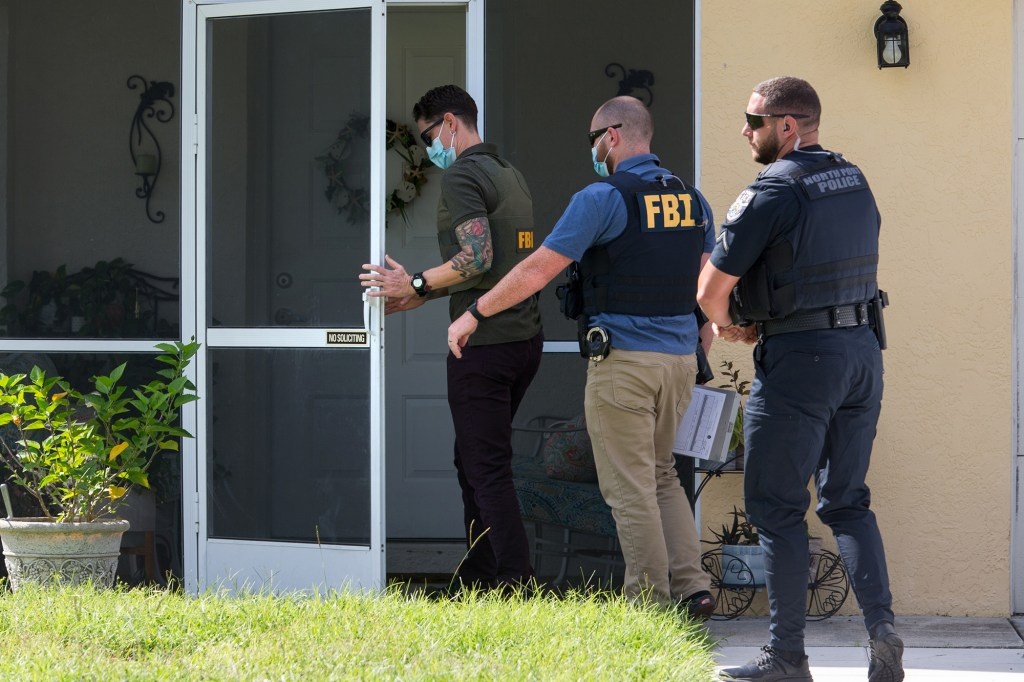 FBI agents paid a visit to the house of Brian Laundrie's parents.
