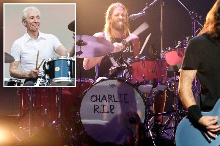 The Foo Fighters paid subtle homage to the late Rolling Stones drummer Charlie Watts during their performance Sunday at the 2021 MTV VMAs at Brooklyn's Barclay's Center.