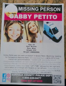 A flier for missing Gabby Petito.