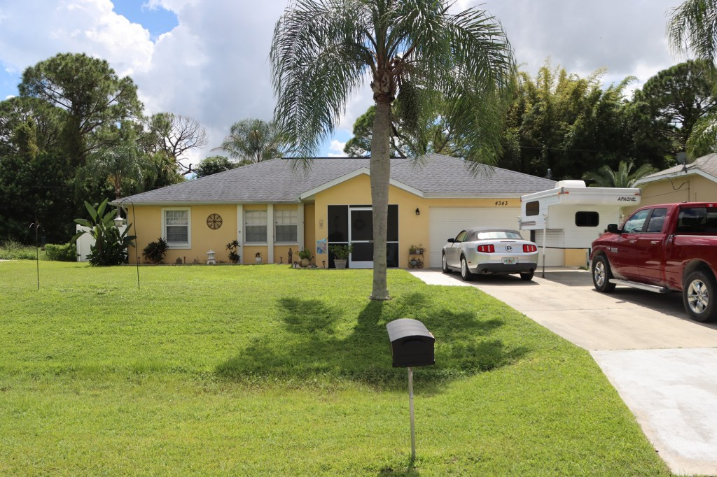 A view of Brian Laundrie's Florida Home. Laundrie is a person of interest in the disappearance of Gabby Petito.