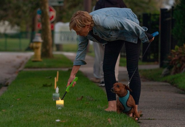 Residents across Bayport-Blue Point held a vigil for Gabby Petito Friday evening, placing candles at the base of their driveways to remember the young woman who was killed in Wyoming on a cross-country trip with her boyfriend Brian Laundrie