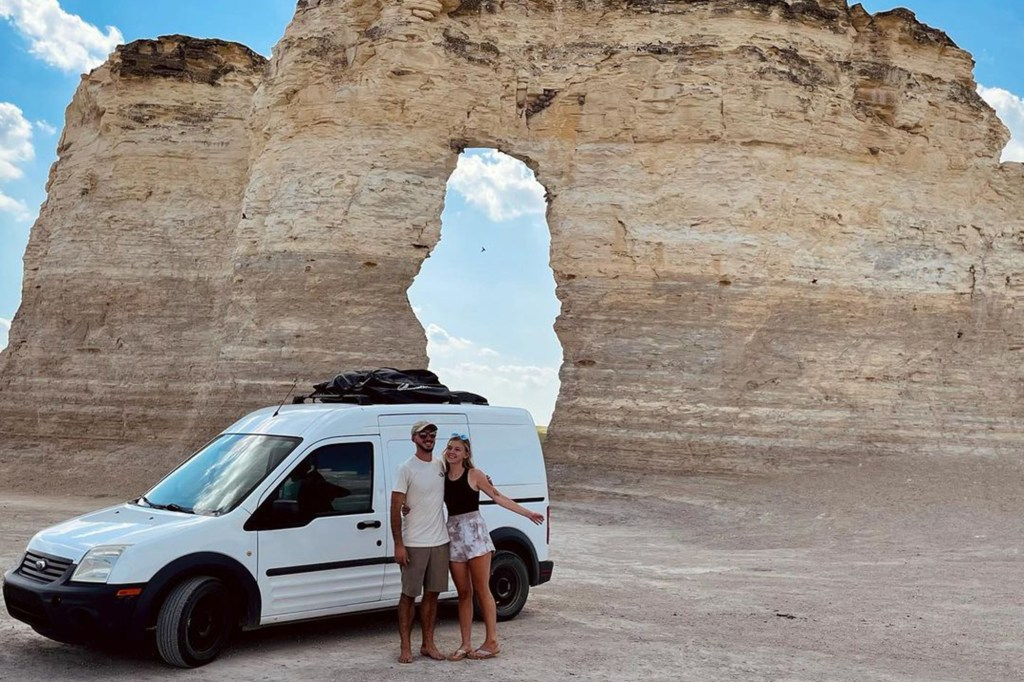 Gabby Petito and fiance Brian Laundrie posting idyllic shots of their cross-country adventure this summer.