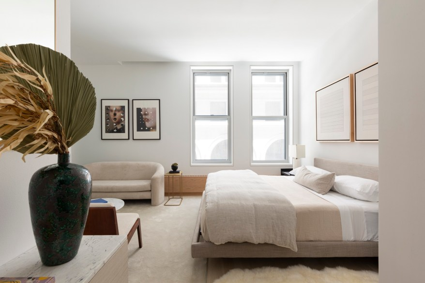A bedroom in the Astor Place home.