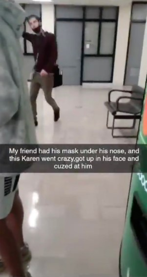 The staffers tirade against the student was posted online and went viral.