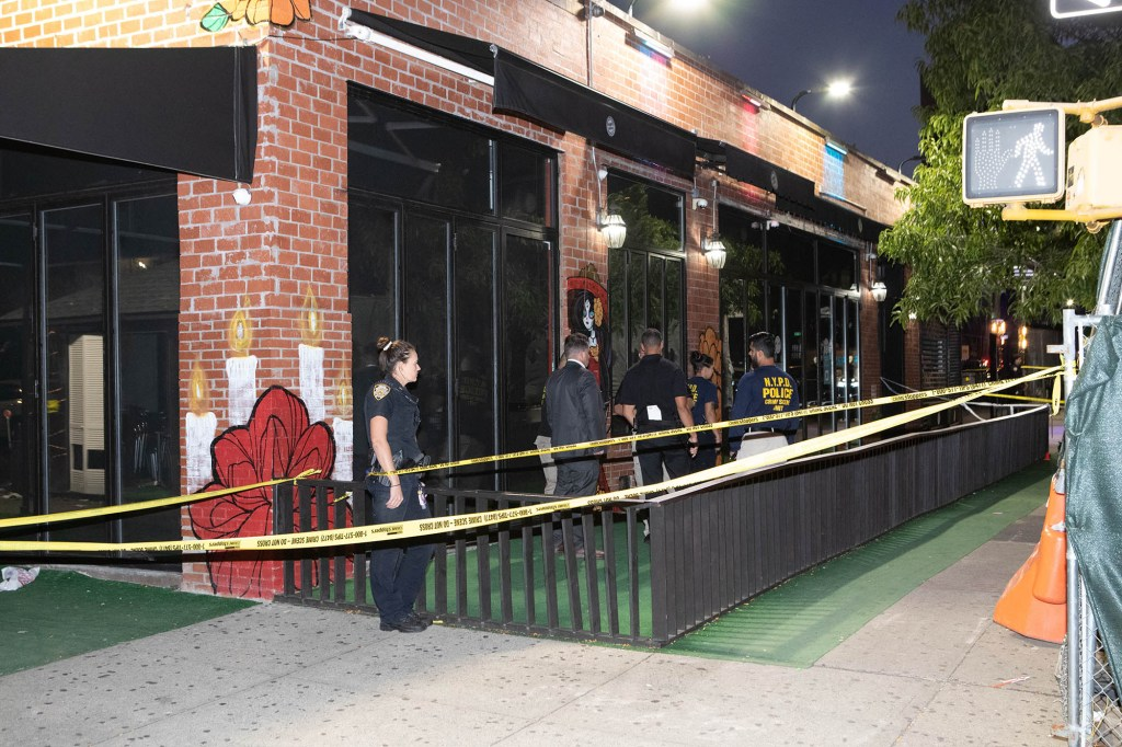 Five people were shot in the incident.