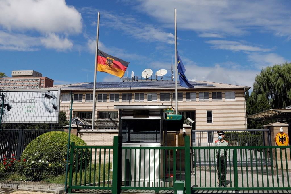German embassy in China.