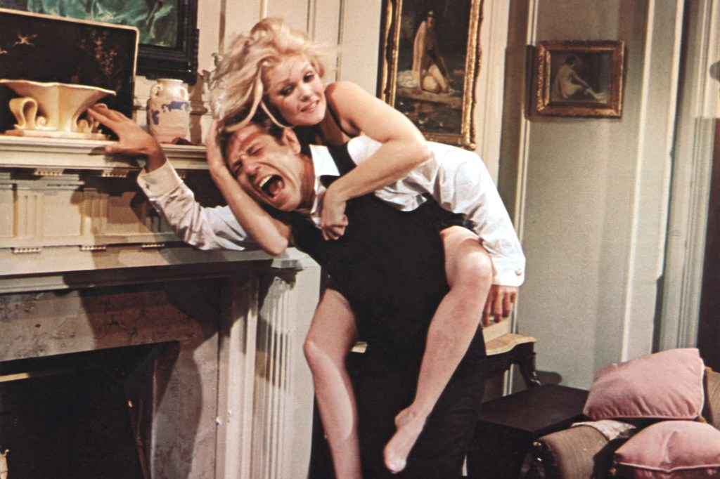 """George Segal and Jean Hale in """"The St. Valentine's Day Massacre."""""""