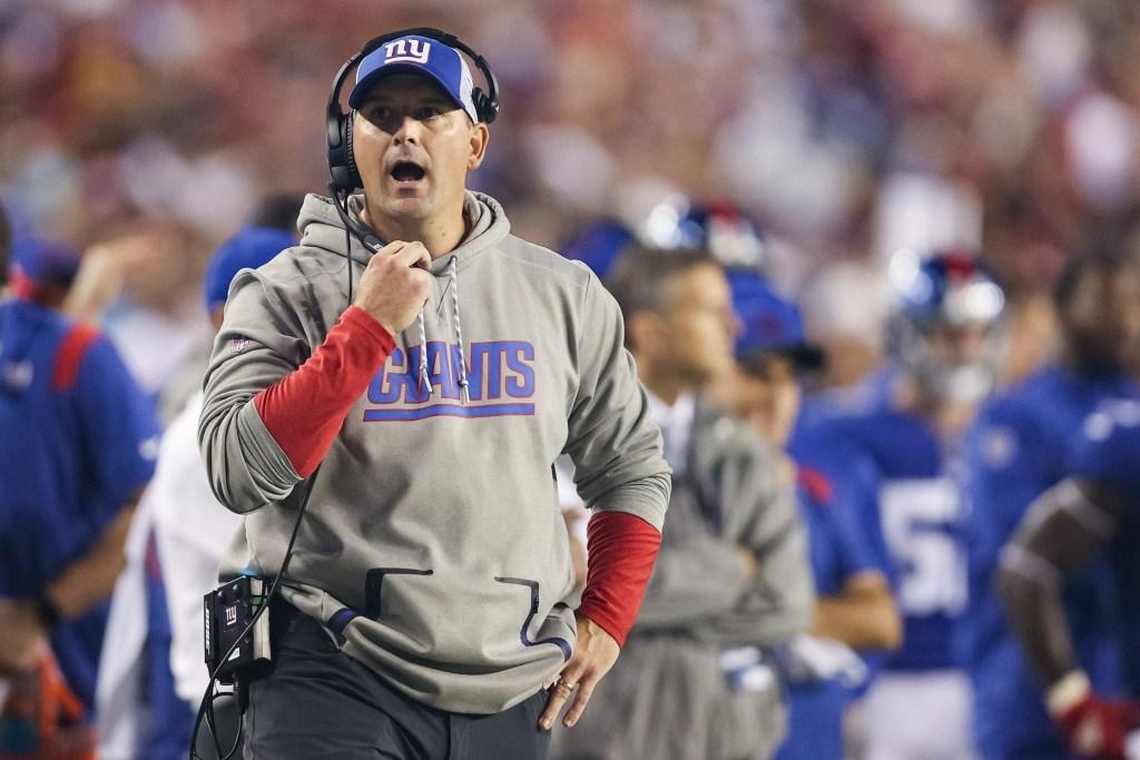 Joe Judge on the Giants' sideline