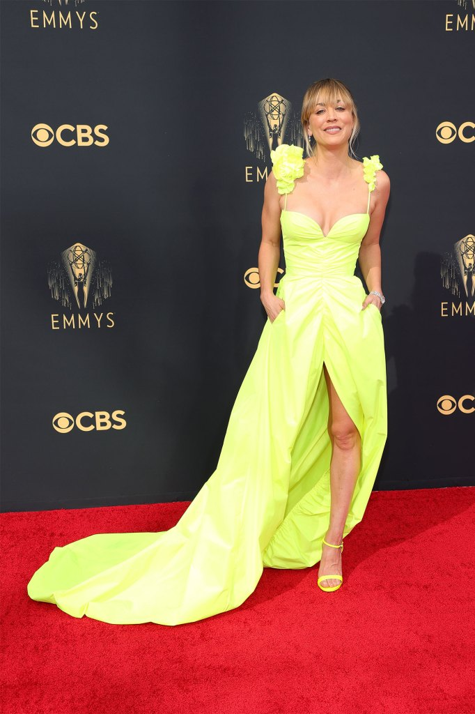 Kaley Cuoco attends the 73rd Primetime Emmy Awards at L.A. LIVE on September 19, 2021 in Los Angeles, California.