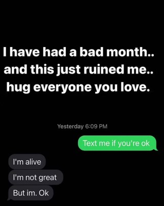 Texts between comedian Brian Redban and Kate Quigley after the latter overdosed on cocaine at a party.