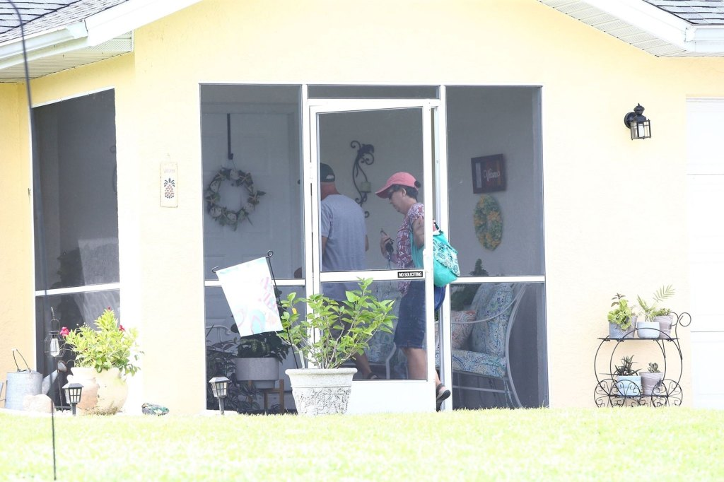 The parents of Brian Laundrie arrive back at their North Port home. Brian Laundrie is still missing at this time.