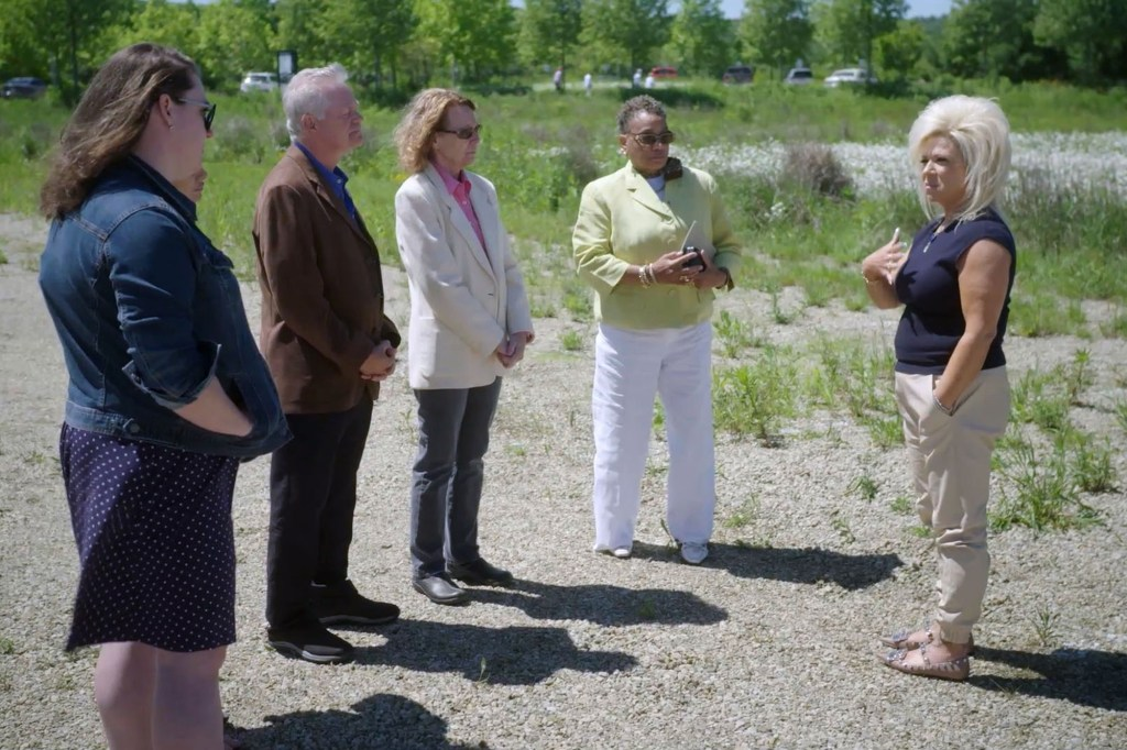 Caputo visits the Shanksville, Penn., crash site with family members of those who died that day.
