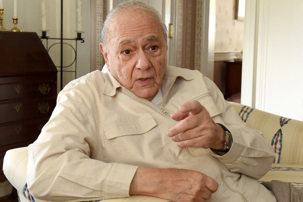 Actor Michael Constantine during a conversation at his sister's home in Reading.