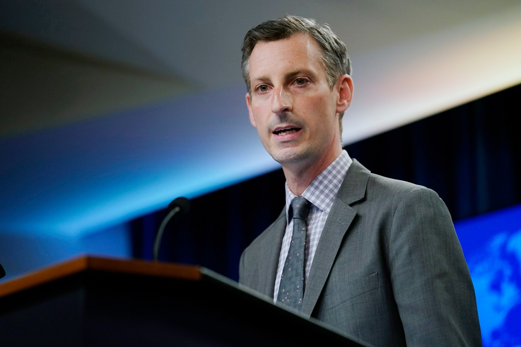 State Department spokesman Ned Price.