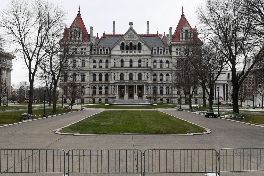 New York state Capitol in Albany, NY