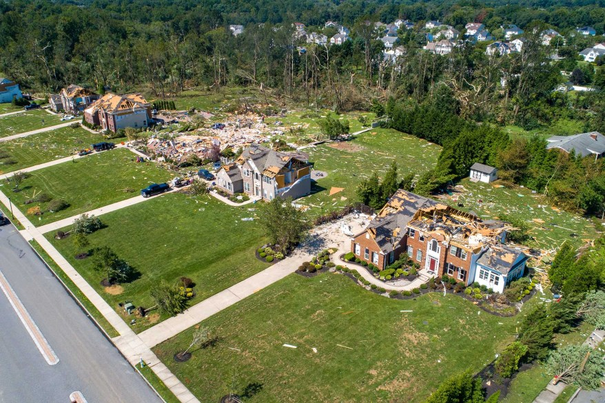 Several homes in Mullica Hill were destroyed as Ida's remnants caused a tornado to rip through the neighborhood and damage a number of homes.
