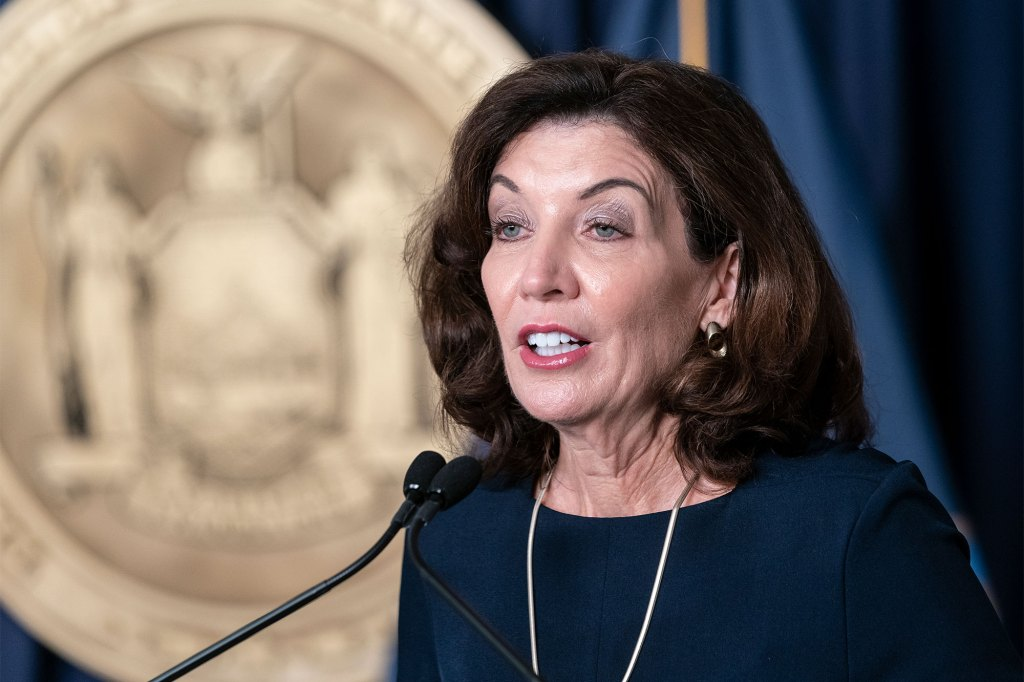 Gov. Kathy Hochul announced new initiatives that aim to combat climate change and increase the state's use of renewable energy.