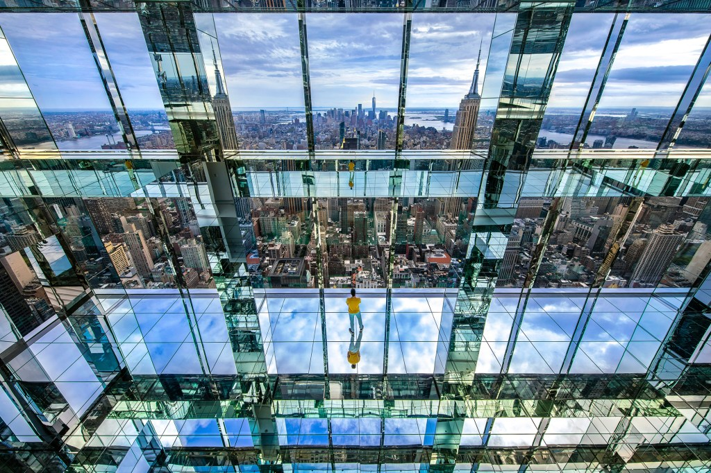 Summit, the 1000-foot-high, 3-level observatory is seen in public relations photos released Tuesday, Sept. 14, 2021. Summit is opening in October at top of One Vanderbilt in New York.
