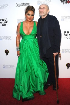 Phil Collins with current wife, Orianne Cevey, at the 4th Annual Dreaming on the Beach Gala