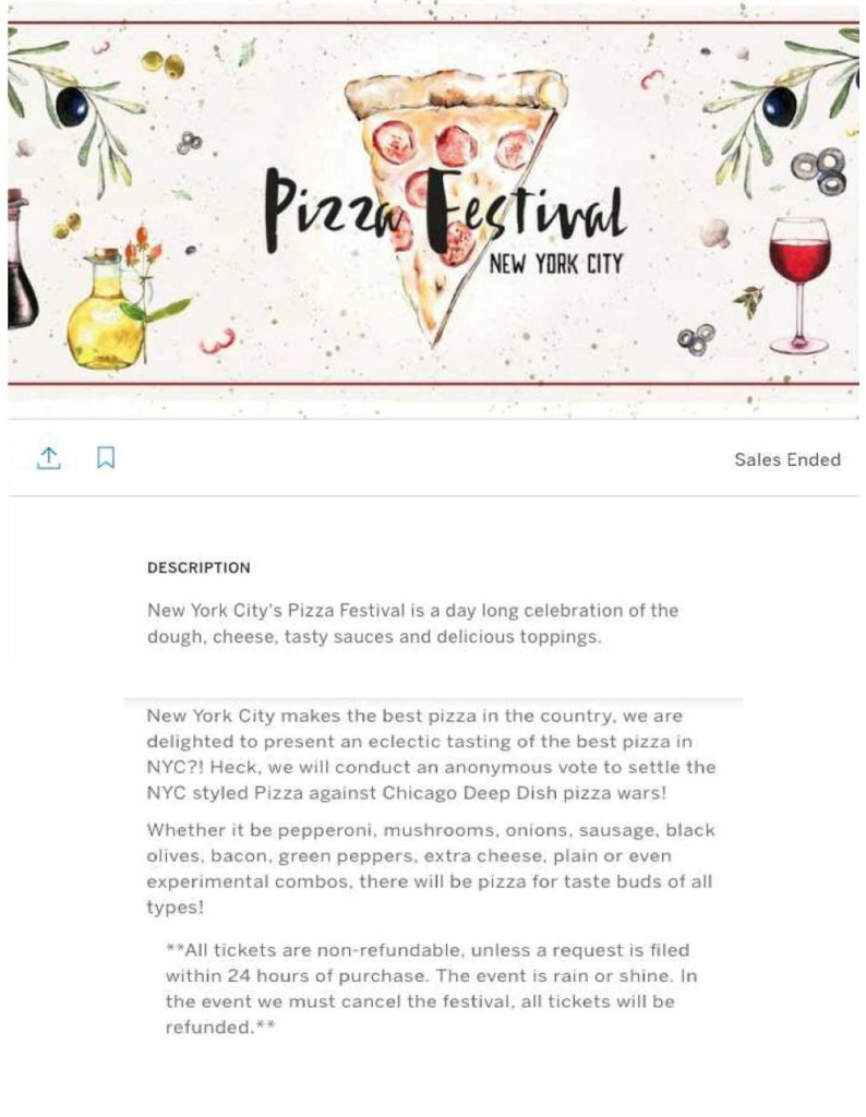 Pizza festival.