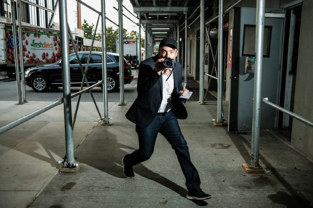 Writer Mark Ellwood sneaks around a parking garage like a paparazzo.