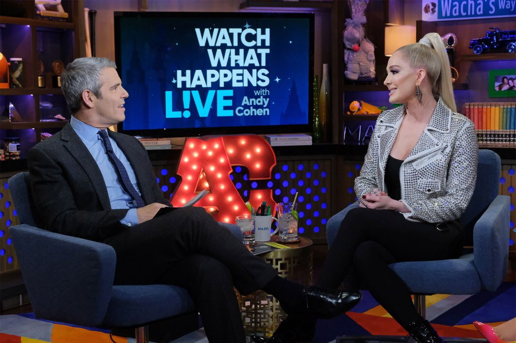Talk show host Andy Cohen with Erika Jayne.