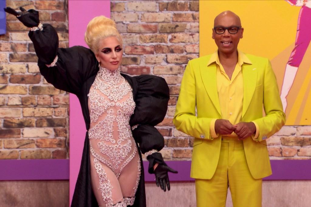Lady Gaga and RuPaul