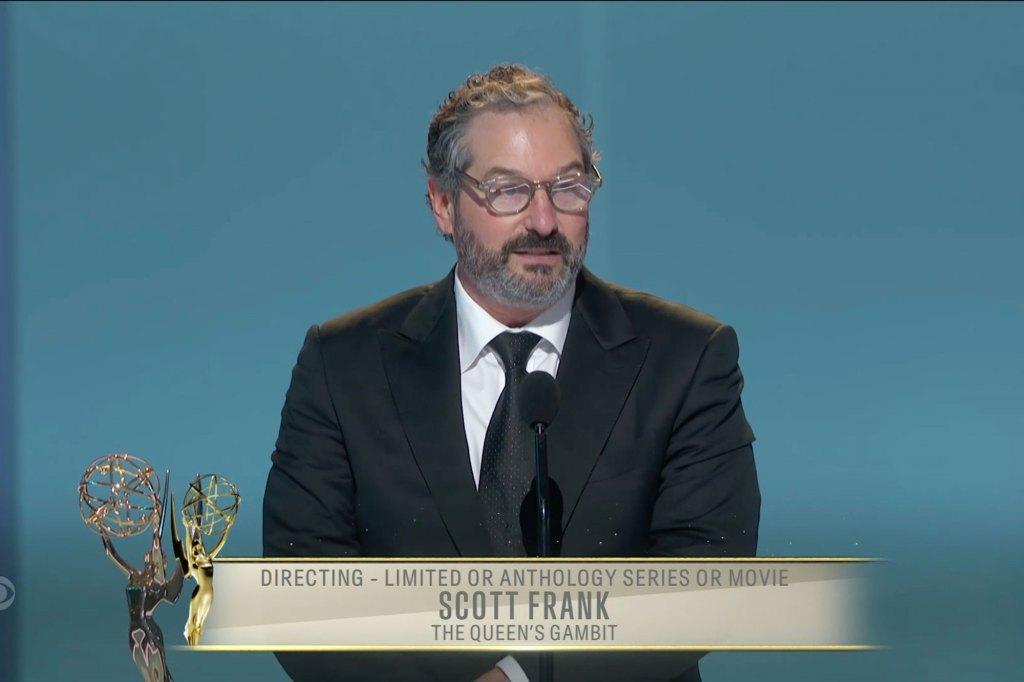 Scott Frank at the 73rd Primetime Emmy Awards.