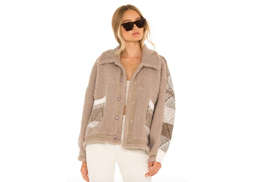 BlankNYC Sherpa Button-Front Jacket