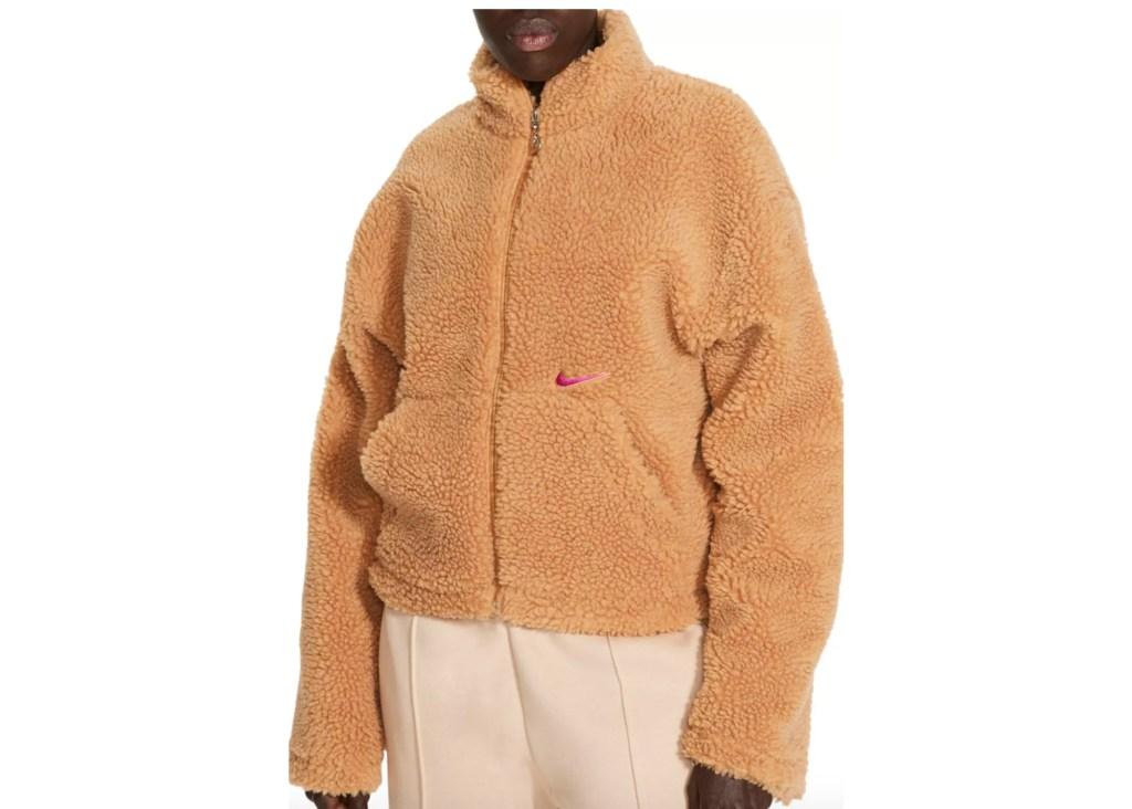 Nike Women's Sportswear Swoosh Sherpa Jacket