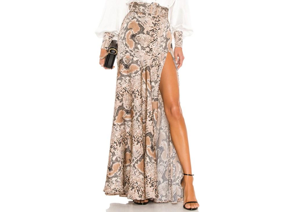 Bronx and Banco Python Maxi Skirt