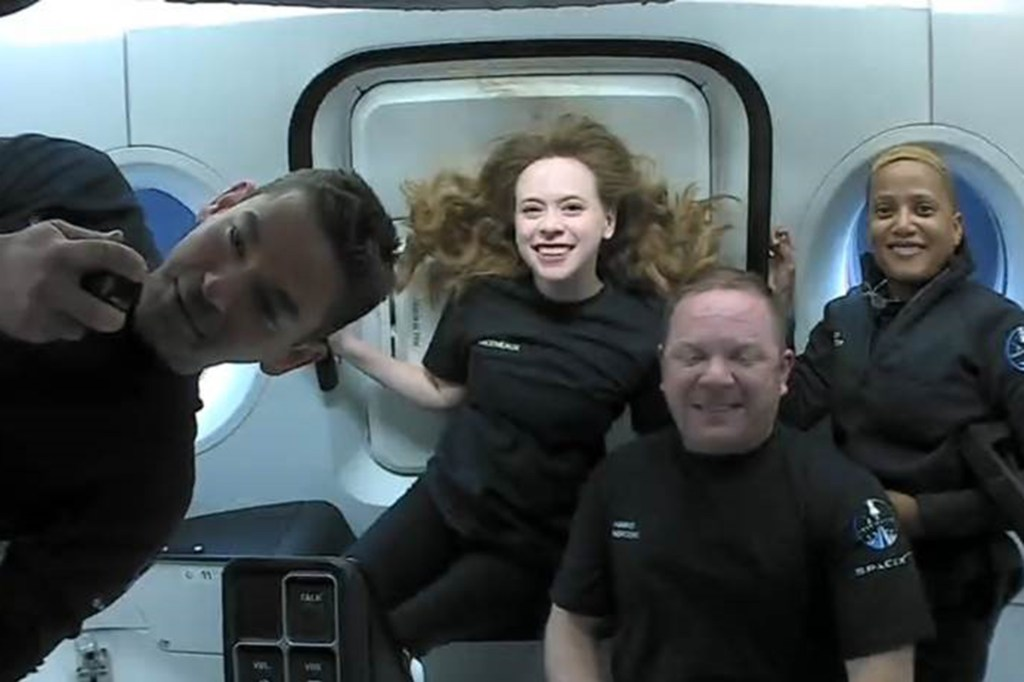 The crew of #Inspiration4 had an incredible first day in space! They've completed more than 15 orbits around planet Earth since liftoff and made full use of the Dragon cupola.
