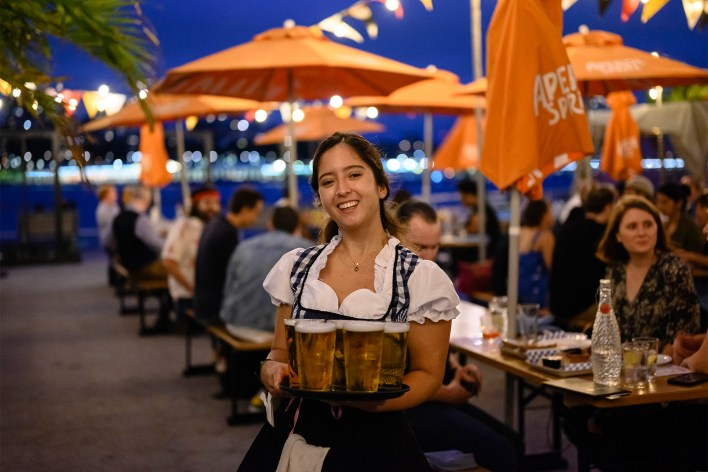 The party goes seven days a week at Watermark for Oktoberfest.