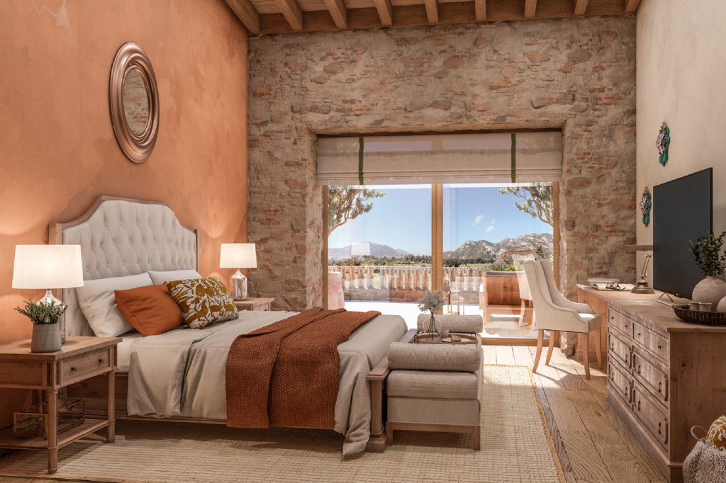 A bedroom at the resort.