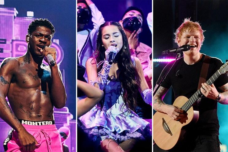Lil Nas X, Olivia Rodrigo and Ed Sheeran take the stage at the 2021 MTV VMAs at Barclays Center in Brooklyn.