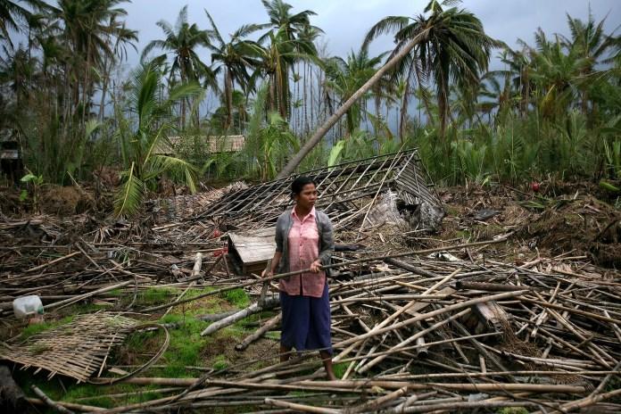 Cyclone Nargis wreckage