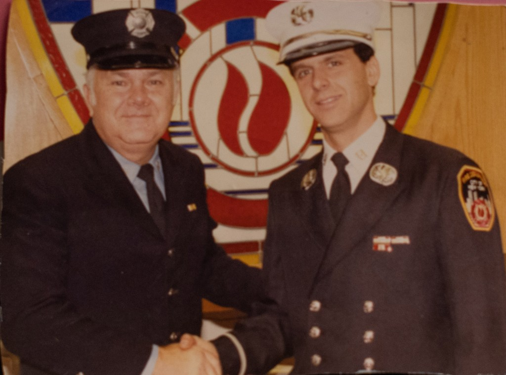 Naglieri with his father in 1991.