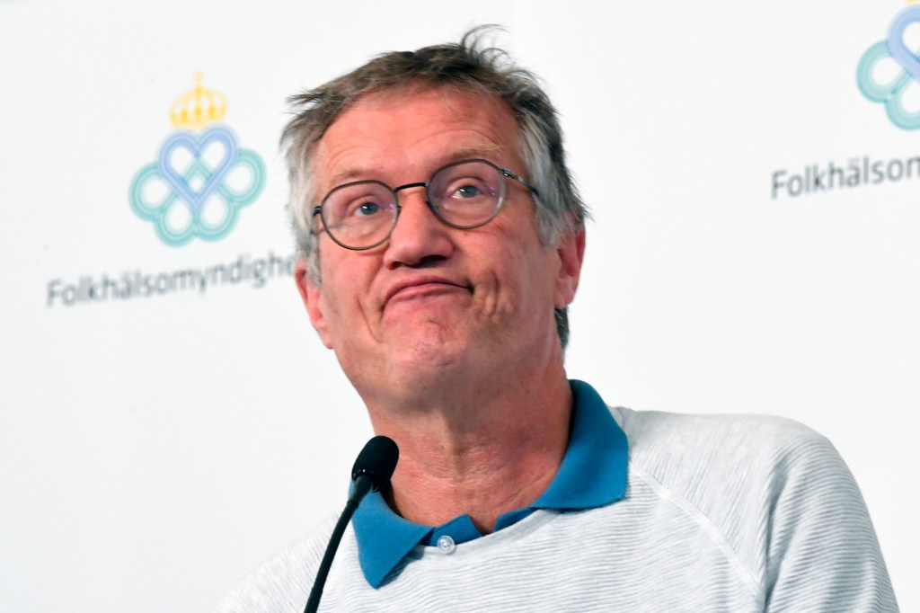 In this June 9, 2020 file photo, Sweden's State epidemiologist Anders Tegnell of the Public Health Agency of Sweden speaks during a news conference, in Stockholm, Sweden.