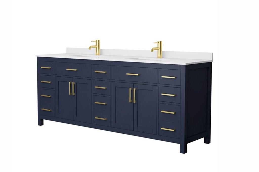 "Wyndham Collection Beckett 84"" Double Bathroom Vanity Set"