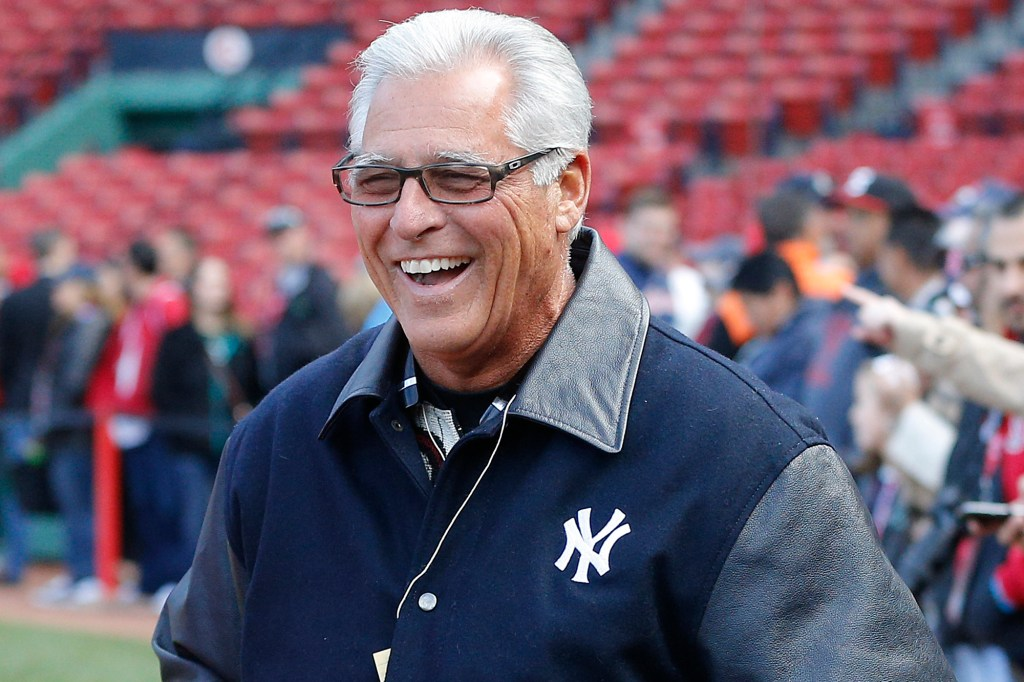 Bucky Dent seen at Fenway in 2016.