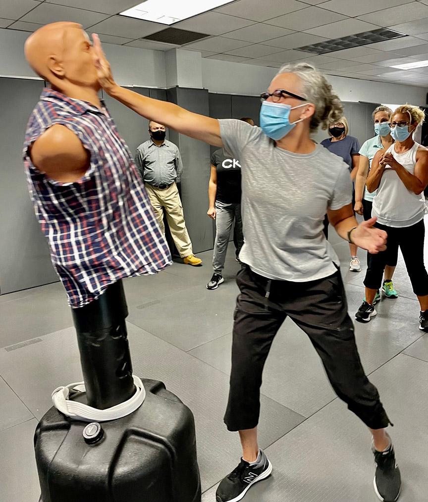 Flight attendants take self-defense training with the TSA in New Jersey.