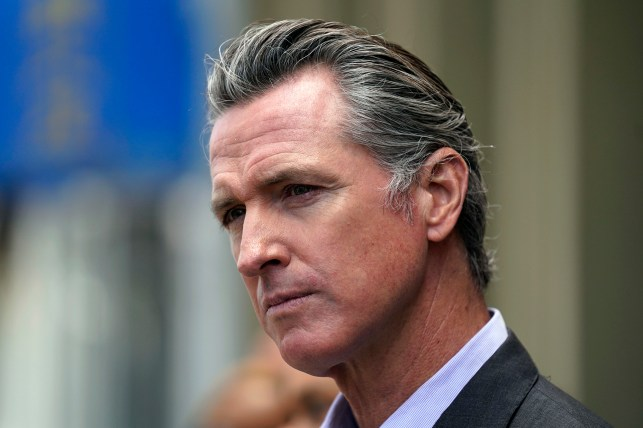 This June 3, 2021, File Photo, Government of California Gavin Newsom listening to questions during a news conference in San Francisco.