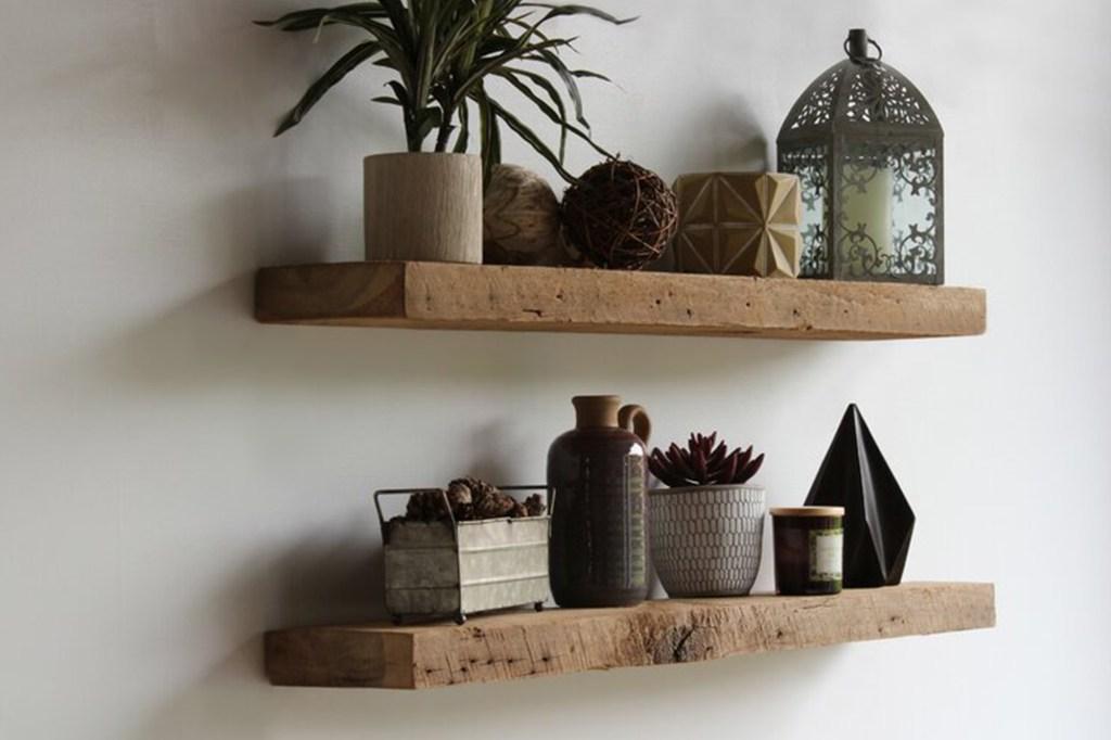 Gracie Oaks Joao 2 Piece Solid Wood Floating Shelf with Reclaimed Wood