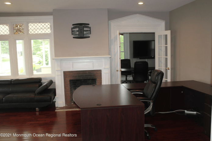 The home is being listed as a commercial space for office use.
