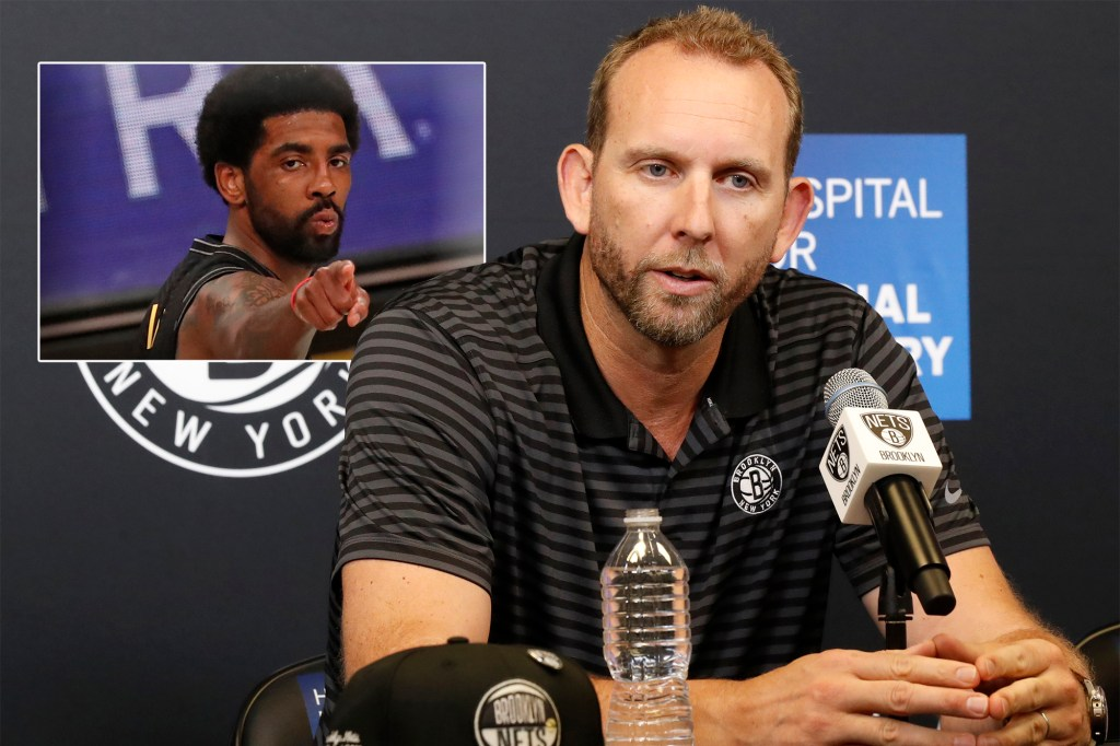 Sean Marks and Kyrie Irving