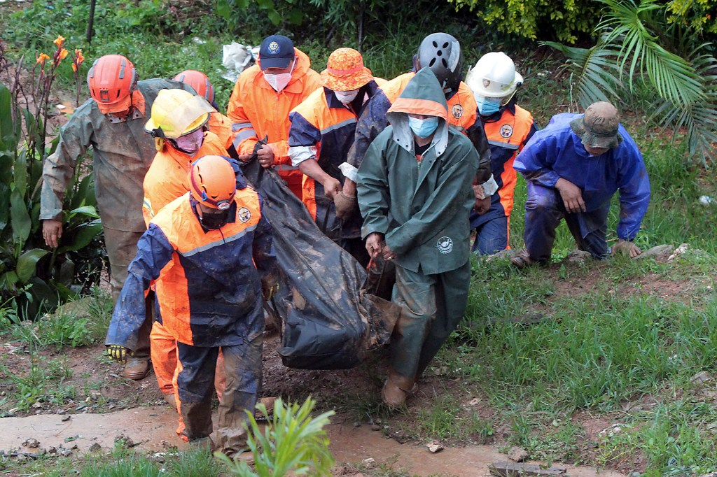 Authorities are still investigating an incident where 11 people died in a landslide that may have been triggered by Tropical Storm Kompasu on Oct. 12, 2021.
