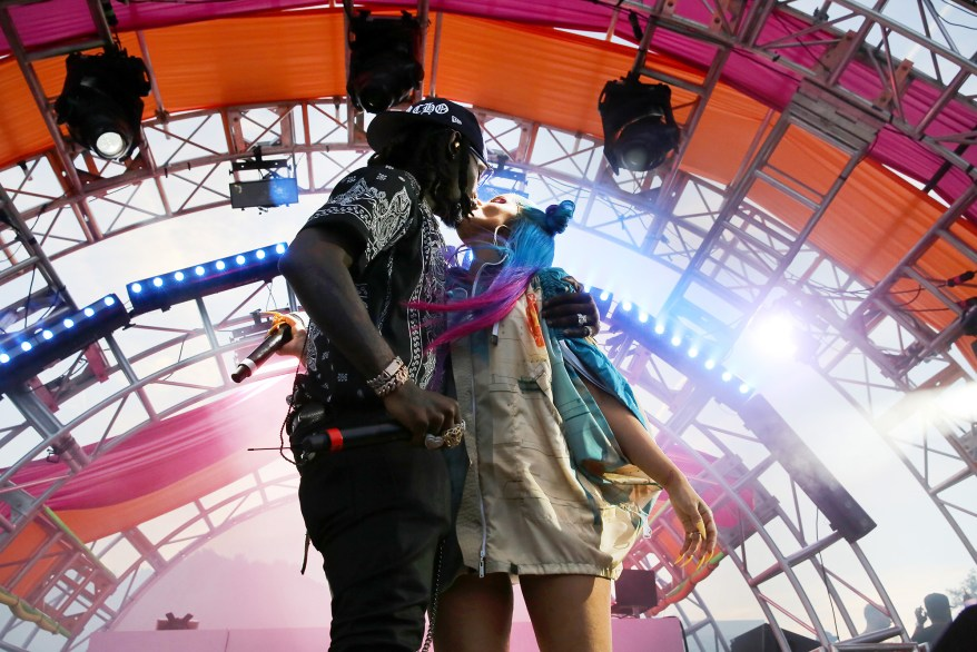 ffset and Cardi B perform onstage during #REVOLVEfestival Day 2 at Merv Griffin Estate on April 14, 2019 in La Quinta, California.