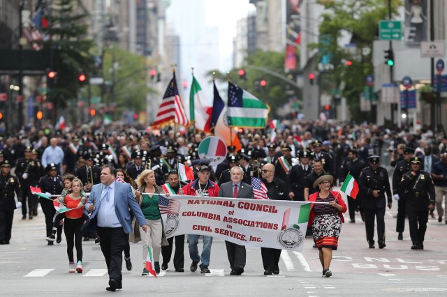According to the NYPD, The parade participants weren't as happy with the mayor either.