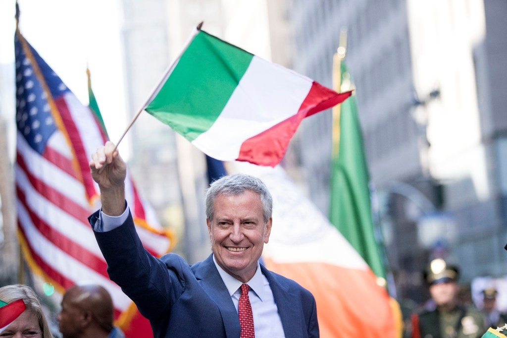 Several profanities were thrown de Blasio's way due to him removing Columbus Day from school calendars and replacing it with Indigenous Peoples' Day.