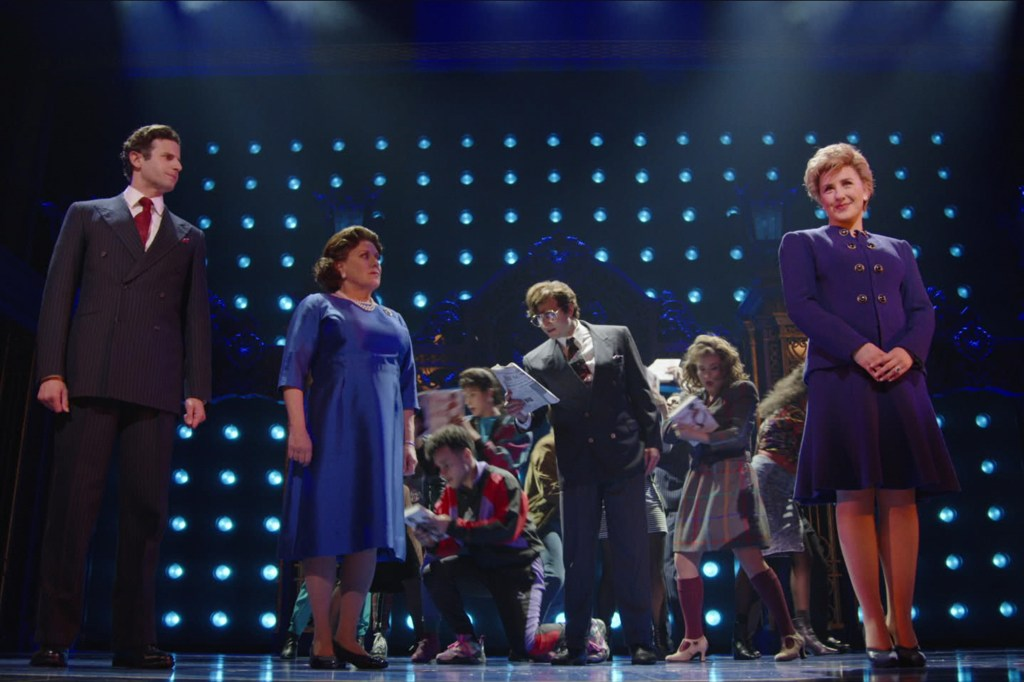 """Queen Elizabeth II (Judy Kaye), left, is harsh to Princess Diana (Jeanna de Waal), right, in """"Diana the Musical."""""""